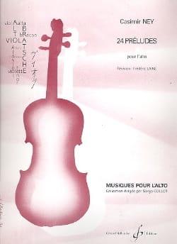 Casimir Ney - 24 Préludes pour l'alto - Partition - di-arezzo.fr