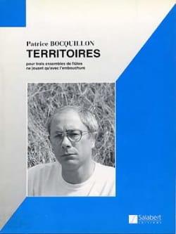 Patrice Bocquillon - Territoires - 3 Flûtes (ou Ensemble) - Partition - di-arezzo.fr