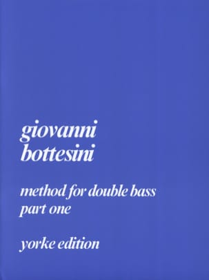Giovanni Bottesini - Method For Double Bass Part 1 - Partition - di-arezzo.fr