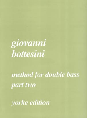 Giovanni Bottesini - Method for double bass, part 2 - Partition - di-arezzo.fr