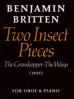 Benjamin Britten - 2 Insect pieces - Sheet Music - di-arezzo.com