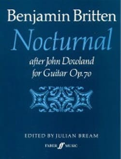 Benjamin Britten - Nocturnal after J. Dowland op. 70 - Sheet Music - di-arezzo.com