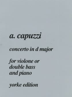 Guiseppe Antonio Capuzzi - Concerto in D major - Double bass - Sheet Music - di-arezzo.com