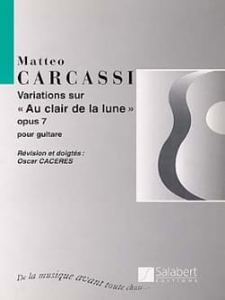 Matteo Carcassi - Variations on The light of the moon op. 7 - Sheet Music - di-arezzo.co.uk
