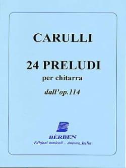 Ferdinando Carulli - 24 Preludi dall' op. 114 - Chitarra - Partition - di-arezzo.fr