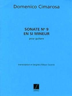 Sonate n° 9 en si mineur CIMAROSA Partition Guitare - laflutedepan