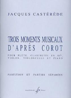 Jacques Castérède - 3 Moments musicaux d'après Corot -Conducteur + parties - Partition - di-arezzo.fr