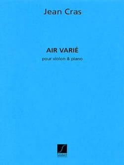 Air varié Jean Cras Partition Violon - laflutedepan
