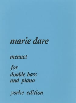 Marie Dare - Menuet for double bass and piano - Partition - di-arezzo.fr