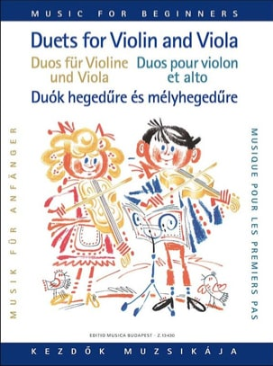 Lajos Vigh - Duets for violin and viola for beginners - Partition - di-arezzo.fr