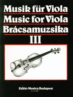 Music For Viola Volume 3 S. Gusztav Szeredi Partition laflutedepan