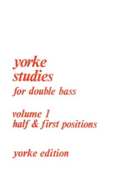 Rodney Slatford - Yorke Studies For Double Bass Volume 1 - Sheet Music - di-arezzo.co.uk