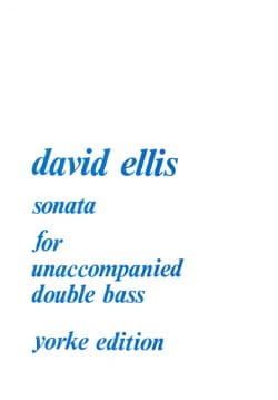 David Ellis - Sonate op. 42 - Double bass - Partition - di-arezzo.fr