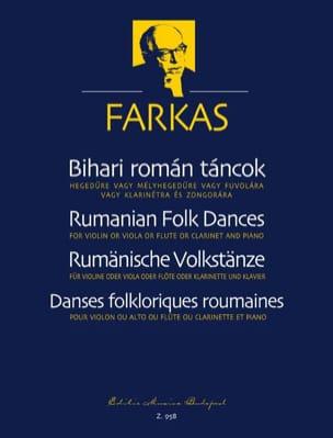 Rumanian Folk Dances - Ferenc Farkas - Partition - laflutedepan.com