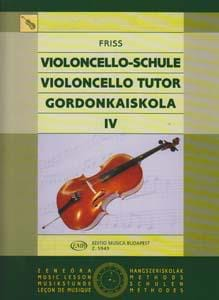 Violoncello Tutor - Volume 4 Antal Friss Partition laflutedepan