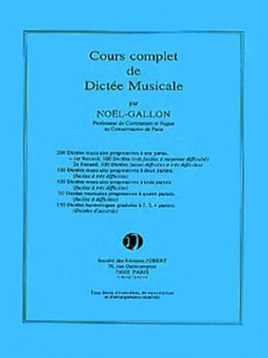 Noël Gallon - 200 1-part dictations - Volume 1 - Sheet Music - di-arezzo.co.uk