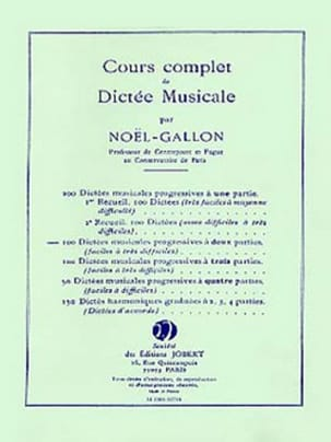 Noël Gallon - 100 Musical dictations with 2 parts - Sheet Music - di-arezzo.co.uk