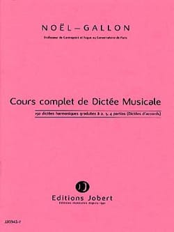 Noël Gallon - 150 Harmonic Dictations graduated to 2, 3, 4 parts - Sheet Music - di-arezzo.co.uk