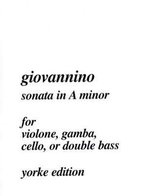 Giovannino - Sonata in A minor - Sheet Music - di-arezzo.co.uk