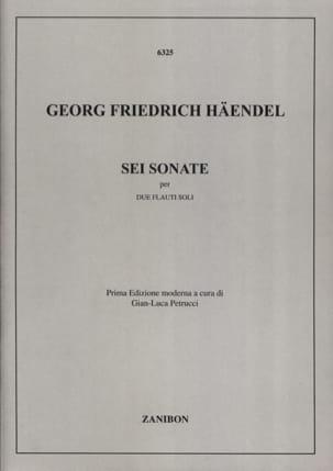 6 Sonates - 2 Flûtes HAENDEL Partition laflutedepan