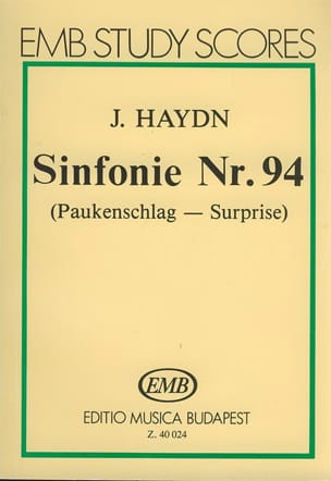 HAYDN - Symphonie N° 94 La Surprise - Partition - di-arezzo.fr