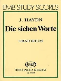 HAYDN - Die sieben Worte - Oratorio. - Sheet Music - di-arezzo.co.uk