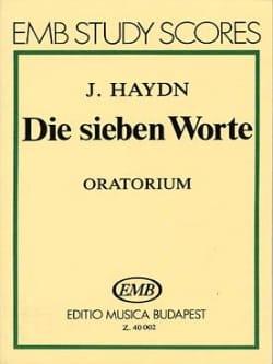 HAYDN - Die sieben Worte - Oratorio . - Partition - di-arezzo.fr