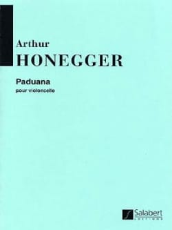 Arthur Honegger - Paduana - Sheet Music - di-arezzo.co.uk