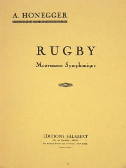 Rugby – Conducteur - Arthur Honegger - Partition - laflutedepan.com