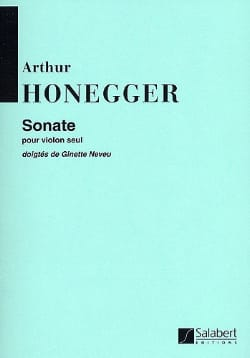 Arthur Honegger - Sonate pour violon seul - Partition - di-arezzo.fr