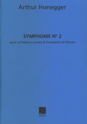 Symphonie n° 2 - Conducteur HONEGGER Partition laflutedepan