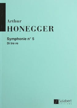 Symphonie n° 5 - Conducteur HONEGGER Partition laflutedepan