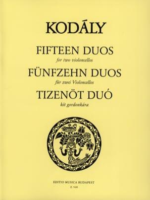 Zoltan Kodaly - 15 dúos - 2 cellos - Partitura - di-arezzo.es