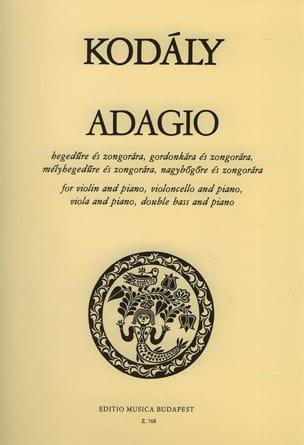 Adagio Zoltan Kodaly Partition Violon - laflutedepan