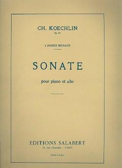 Charles Koechlin - Sonate op. 53 – Alto et piano - Partition - di-arezzo.fr