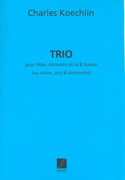 Charles Koechlin - Trio op. 92 - Partition - di-arezzo.fr