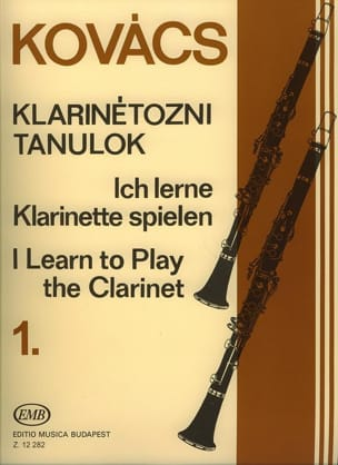 Béla Kovacs - I learn to play the clarinet – Volume 1 - Partition - di-arezzo.fr