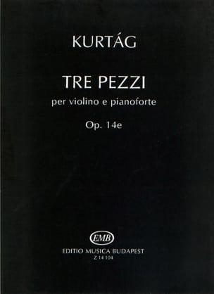 Gÿorgy Kurtag - Tre Pezzi - Sheet Music - di-arezzo.com