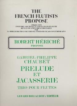 Prélude et Jacasserie - Gabriel Philippe Chaubet - laflutedepan.com