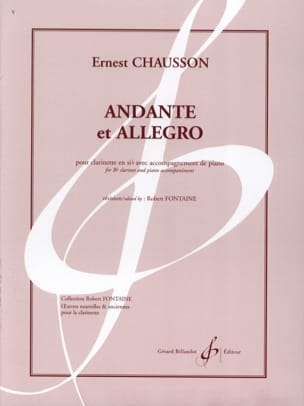 Ernest Chausson - Andante and Allegro - Sheet Music - di-arezzo.co.uk