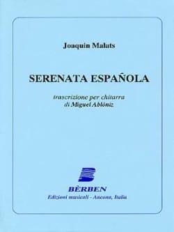 Sérénade Espagnole - Guitare Joaquin Malats Partition laflutedepan