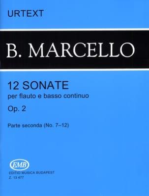 Benedetto Marcello - 12 Sonates op. 2 - Volume 2 (n° 7-12) – flauto e basso continuo - Partition - di-arezzo.fr