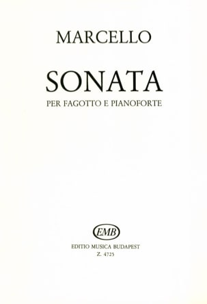 Benedetto Marcello - Sonate en mi mineur – basson et piano - Partition - di-arezzo.fr