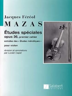 MAZAS - Special Studies op. 36 - Sheet Music - di-arezzo.co.uk