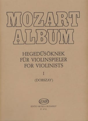 MOZART - Mozart Album, Volume 1 Lieder - Partition - di-arezzo.fr