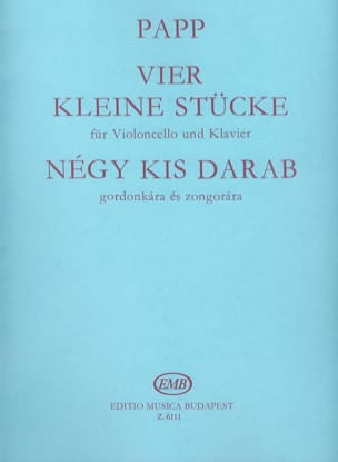 Lajos Papp - 4 kleine Stücke - Sheet Music - di-arezzo.co.uk