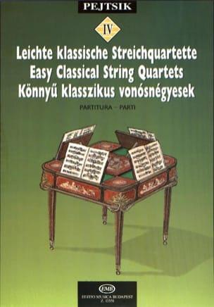 Easy Classical String Quartets - Arpad Pejtsik - laflutedepan.com