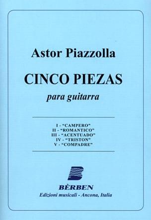 Astor Piazzolla - 5 Piezas - Partition - di-arezzo.fr