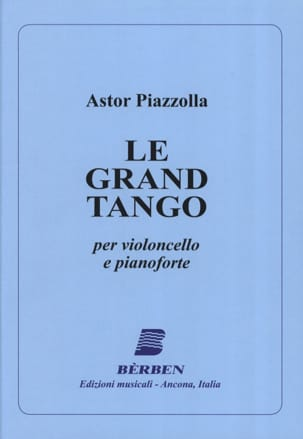 Astor Piazzolla - The Grand Tango - Cello - Sheet Music - di-arezzo.com