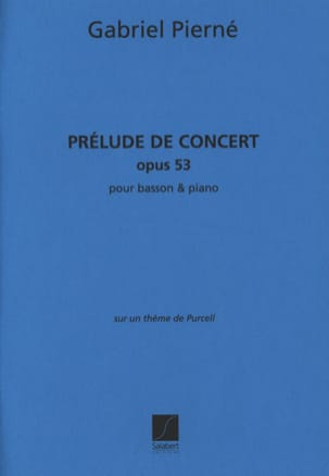 Prélude de concert op. 53 PIERNE Partition Basson - laflutedepan